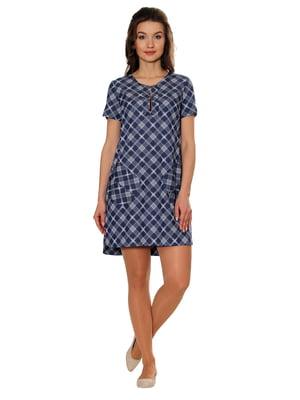 Платье синее в принт | 5366413