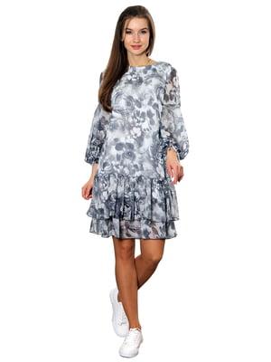 Сукня сіра в принт   5366439