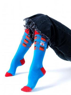 Шкарпетки з принтом «Круто-кіт» | 5366642