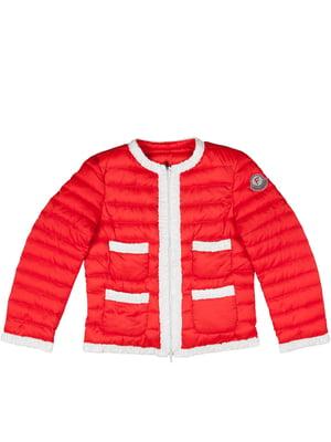 Куртка красно-оранжевого цвета | 4695357