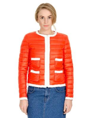 Куртка червоно-морквяного кольору | 4695367