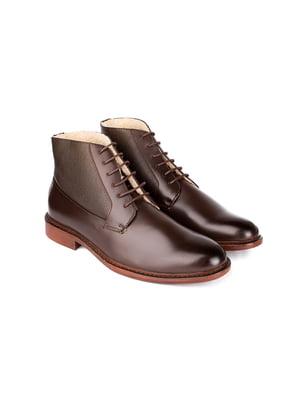 Черевики коричневі | 5310218