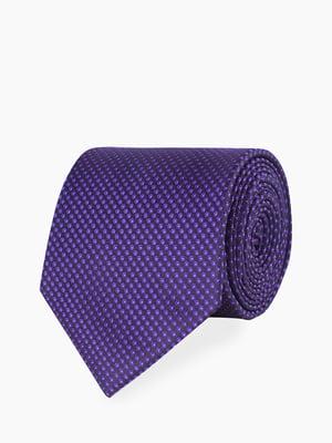 Галстук фиолетовый с узором | 5310839