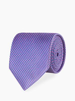 Галстук сине-розовый с узором | 5310846
