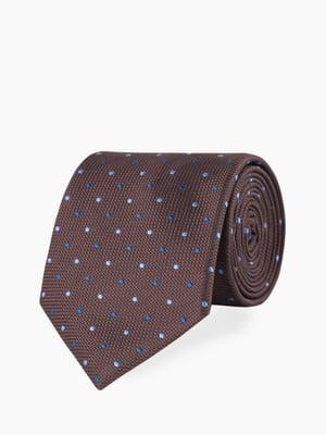 Краватка коричнева з візерунком | 5310851