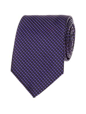 Галстук фиолетово-черный с узором | 5364947