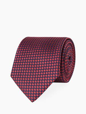 Краватка синьо-червона у візерунок | 5365049