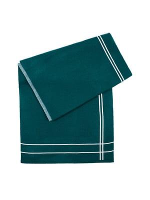 Шарф зелений у смужку | 5365863