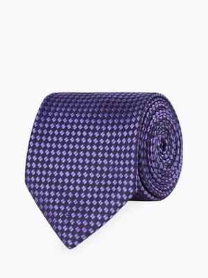 Галстук сине-фиолетовый с узором | 5366147