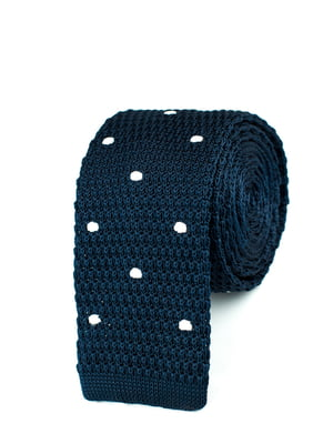 Краватка темно-синя в горох | 5366156