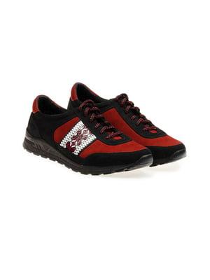 Кросівки чорно-червоні | 4495455