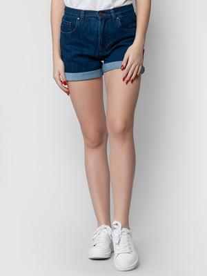 Шорты темно-синие джинсовые | 5365118