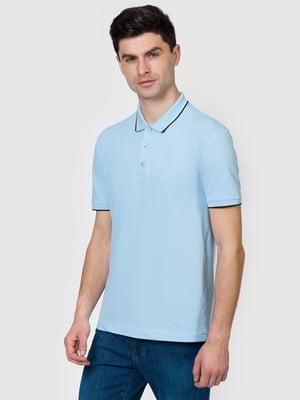Футболка-поло блакитна | 5365217