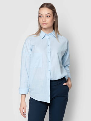 Рубашка голубая | 5365907