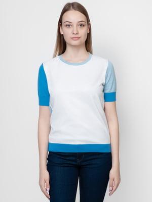 Джемпер бело-голубой | 5366111