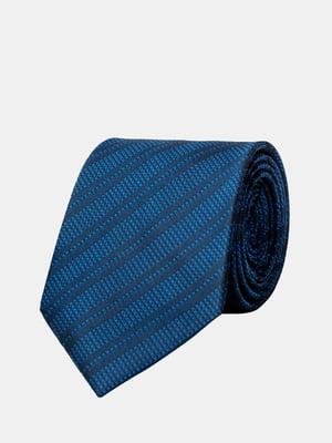 Галстук синий в полоску | 5366170