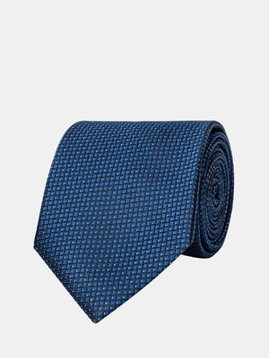 Галстук синий с узором | 5366171