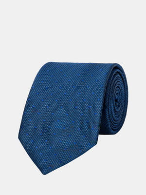Галстук синий в горох | 5366174