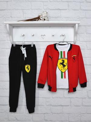 Костюм спортивний: кофта, лонгслів, футболка і штани | 5367175