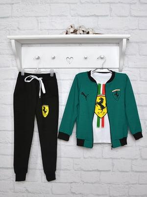 Костюм спортивний: кофта, лонгслів, футболка і штани | 5367176