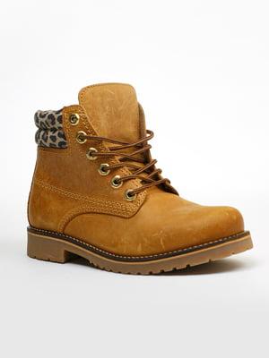 Ботинки цвета кэмел | 5366290