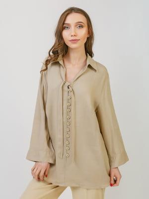 Блуза бежева | 5366306