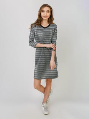 Платье черное в полоску | 5366323