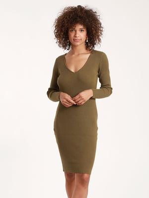 Сукня кольору хакі | 5367741