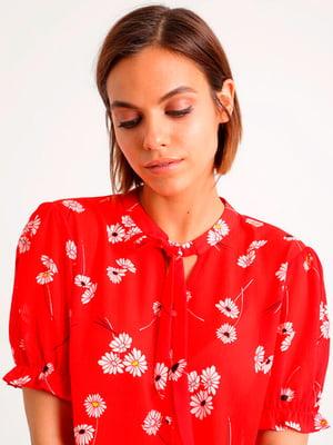 Блуза красная в принт | 5363647