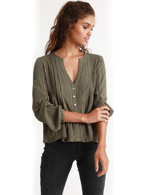 Блуза кольору хакі   5363675