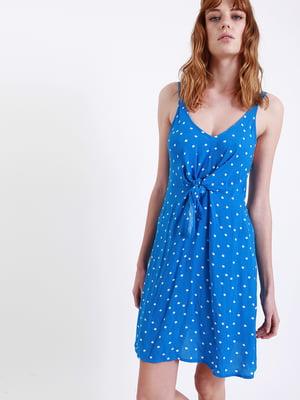 Сукня синя в горох | 5363770