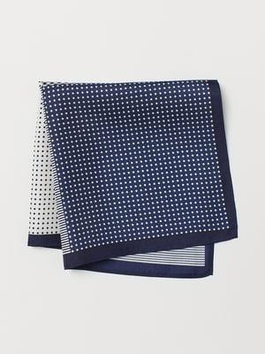 Платок синий в принт | 5371978