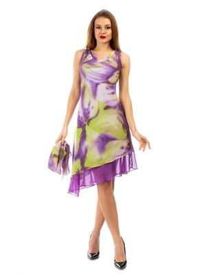 Платье сиреневое с принтом | 5372463