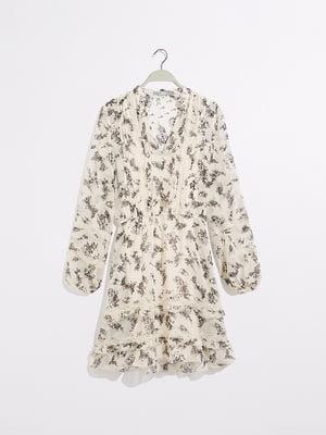 Платье молочного цвета в принт   5372768