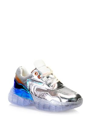 Кроссовки серебристые | 5373150