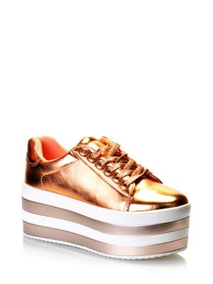 Кроссовки бронзового цвета | 5373170