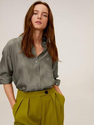 Рубашка серо-зеленая | 5369519