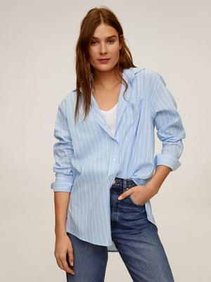 Рубашка голубая в полоску | 5369778
