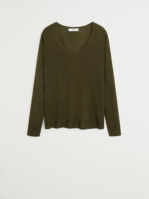 Пуловер болотного кольору | 5369979