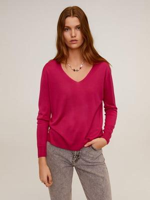 Пуловер малинового кольору | 5369981