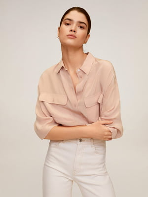 Рубашка цвета пудры | 5370085