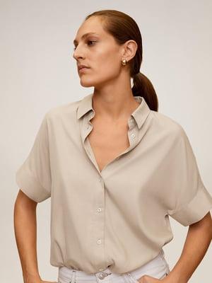 Рубашка бежевая | 5370093