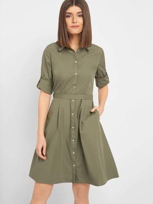 Платье цвета хаки | 5368714