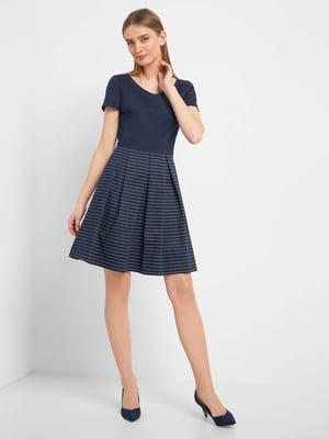 Платье синее в полоску | 5368785