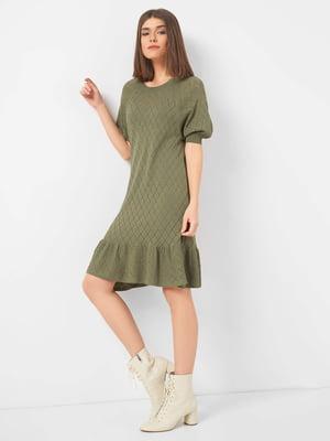 Сукня кольору хакі в ромби | 5368836