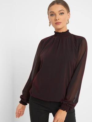 Блуза черная в горох | 5368842