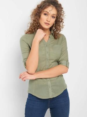 Блуза цвета хаки | 5368844