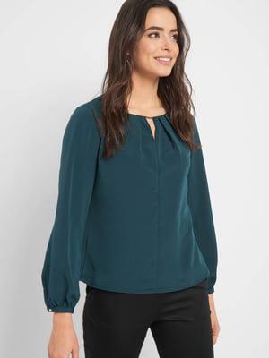Блуза темно-зелена | 5368893
