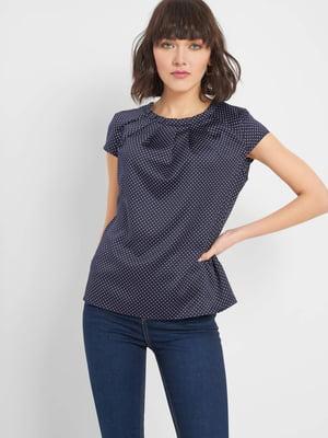 Блуза синя в горох | 5368896
