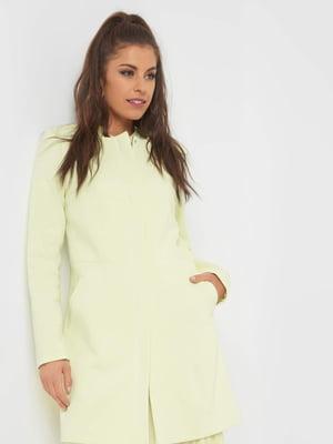 Пальто лимонного кольору | 5368940